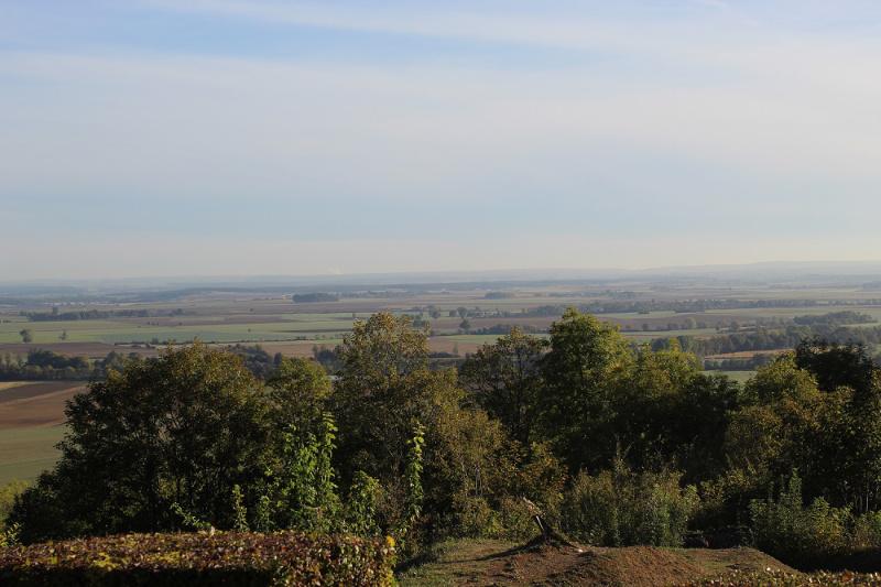 Panorama du point X - crête des Eparges